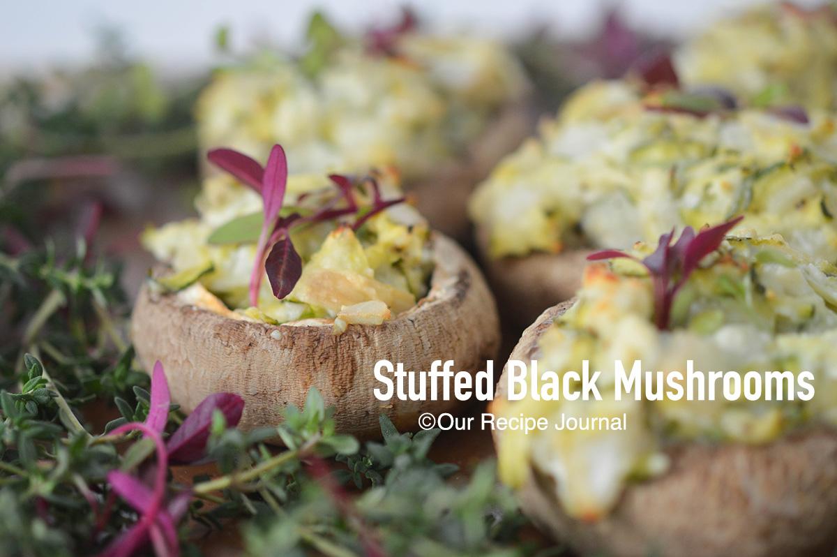 Stuffed black mushroom