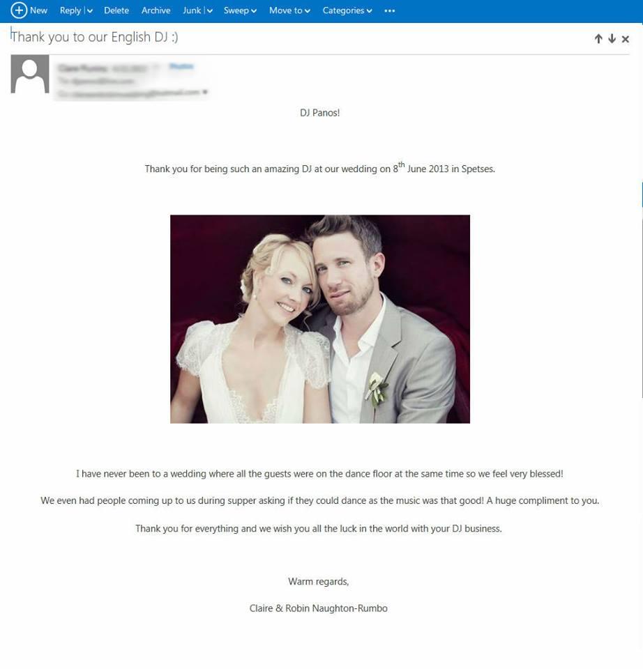 testimonial e-mail