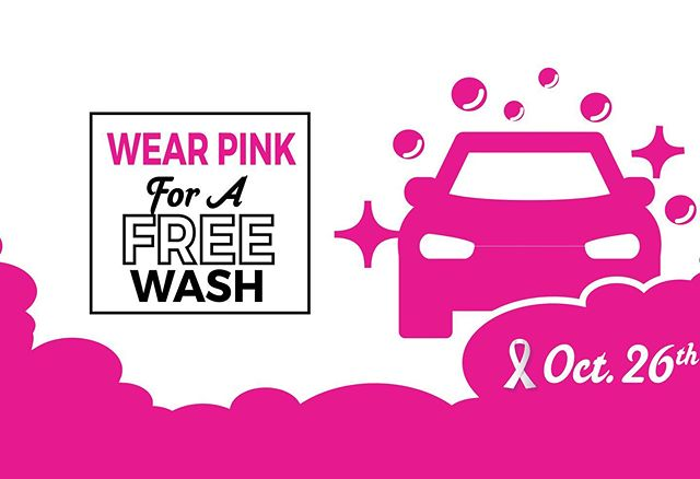 Wear PINK for a FREE Car Wash on Saturday, October 26th at 16061 Beach Blvd. in Huntington Beach! Link in bio to register 👆