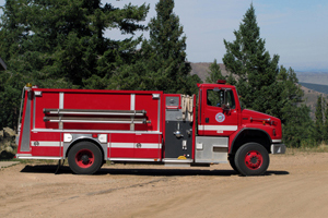 4342   Water Tender   1,800 gallon capacity 750 gpm pump rating