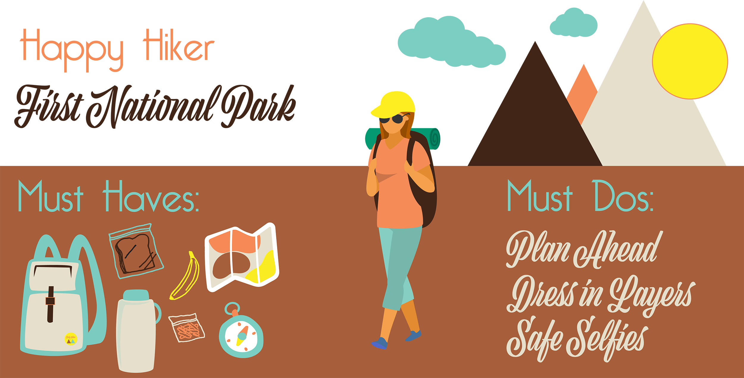 Tips and essentials for your first day hike in a National Park