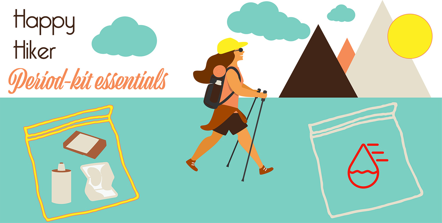 Two essential bags are need for happy hiking while on your period.