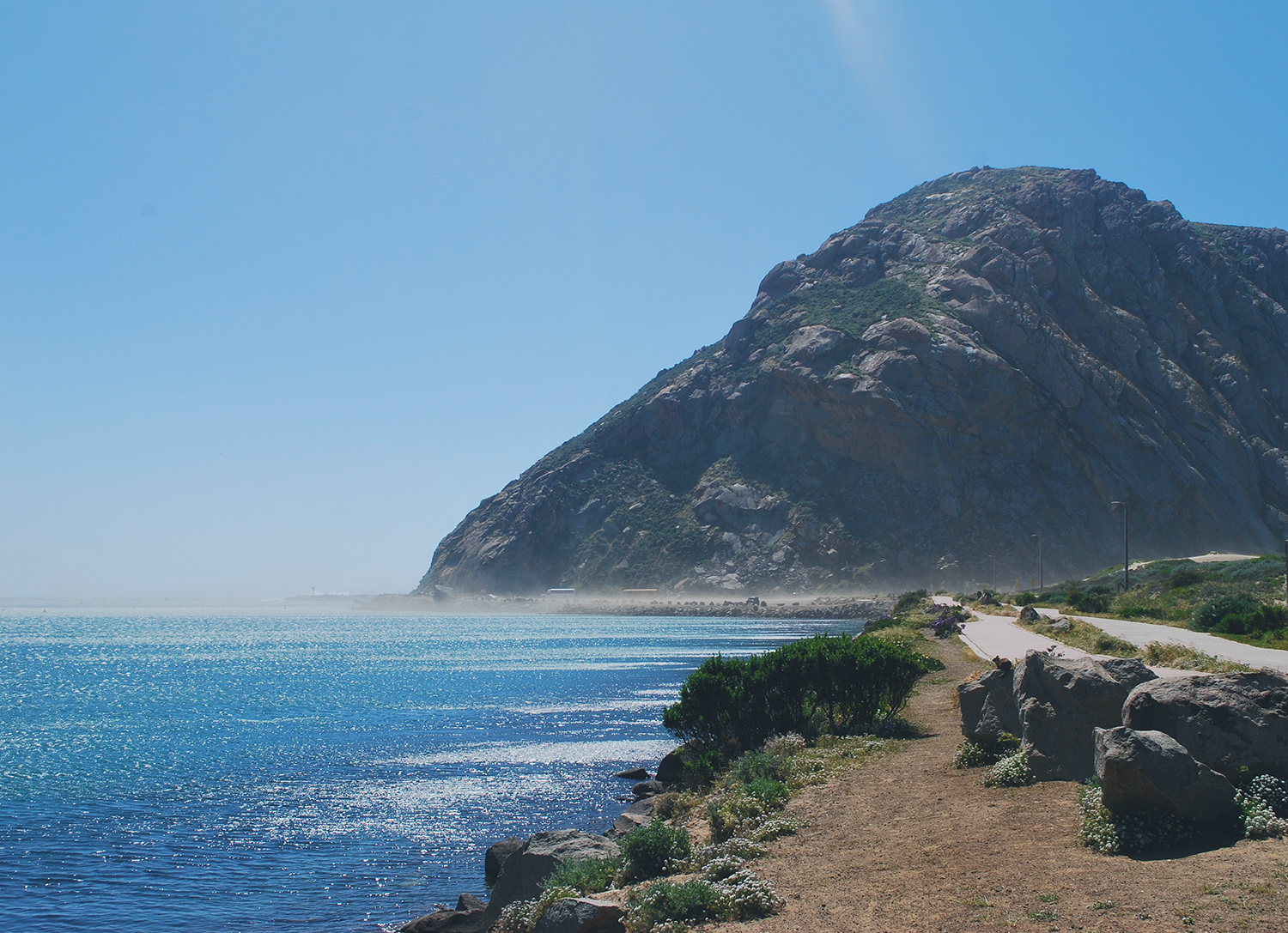 Close up of Morro Rock