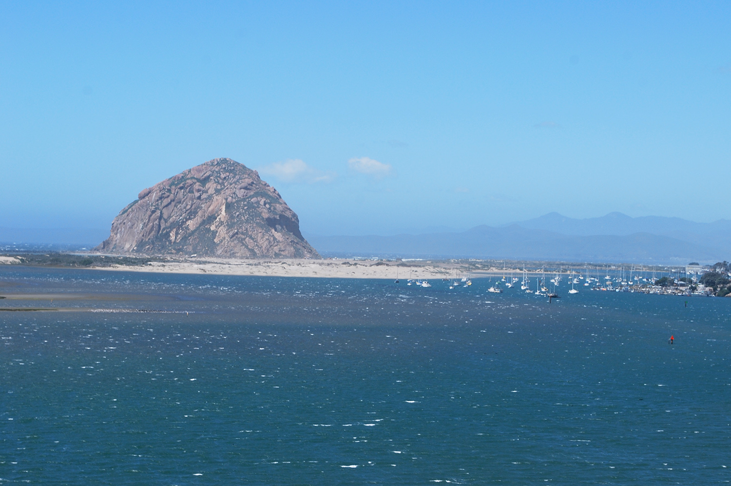 Morro Rock across the bay from Morro Bay State Park