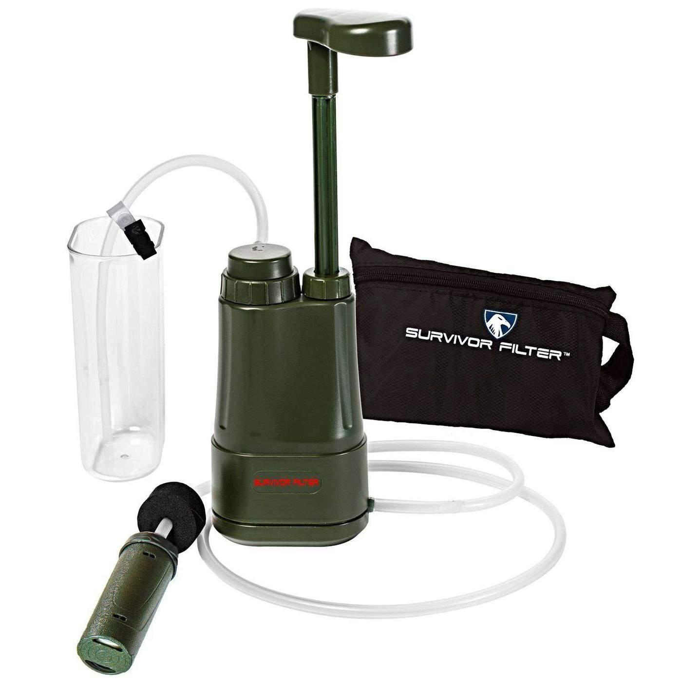 Water filtration - SURVIVOR FILTER PRO™ Portable Water Filter Pump