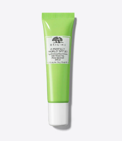 Moisturize! - Origins Age-Defense Eye Cream with SPF 20 protects against damage from UV rays. Bonus: The White Tea antioxidants help protect eyes from ground level ozone and pollution.