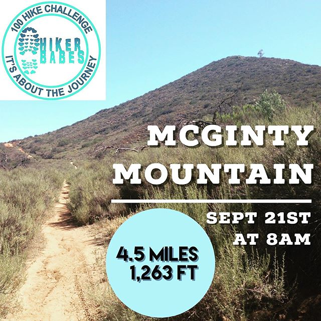 Calling all SoCal #LadyHikers 📣 ⠀ McGinty Mountain: Hiker babes San Diego Chapter this Saturday! ⠀ Follow @hikingwithbritt + @hikerbabes_sd and get a little outdoors in this weekend! ⠀ ... ⠀ #hikingcommunity #hikers #Mcgintymountain #outdoors
