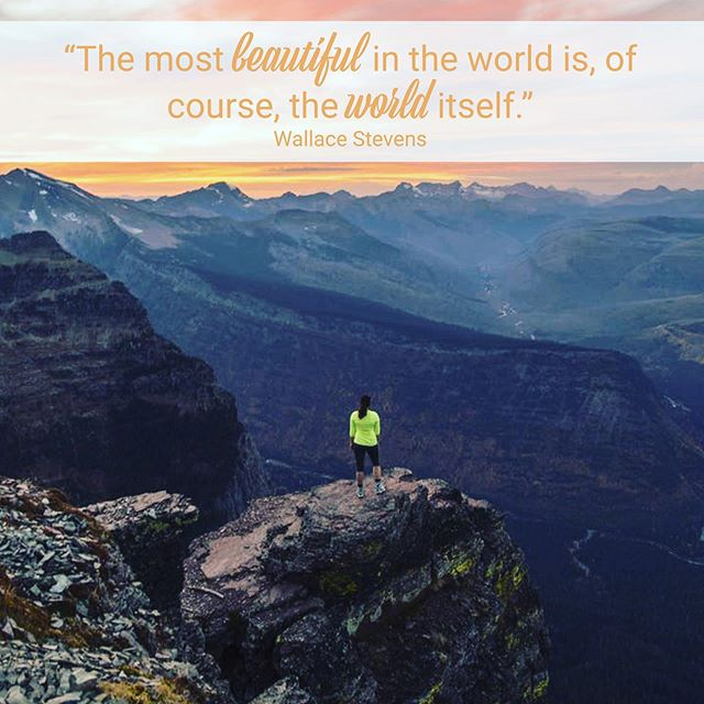 The world carries all of the beauty, waiting for us to admire it. People, places, adventures…🥾 ⠀ So what's your next destination? #TravelTheWorld ⠀ ⠀ - ⠀ #MondayMotivation #inspiration #explore #inspirationalquotes #travel #nature #courage #getoutdoors #life #friends #beautiful #world #thoughtful #wallacestevens ⠀ ⠀