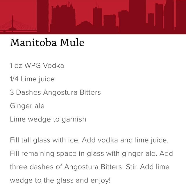 Patio weather calls for a patio cocktail. Enter the Manitoba Mule the perfect, EASY, summer drink. GET OUT OF THE OFFICE AND GO ENJOY!  #Winnipeg #Vodka #Local #Wpg #WpgNow #MB #Manitoba #BuyLocal #Bartender #Winter #GrainVodka #MadeInCanada #CanadianMade #Restaurant #Cocktail #Recipe #CocktailRecipes