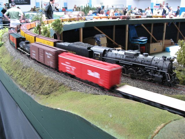 Railex 08 Passing Freights with Vaughn Flatcar.jpg