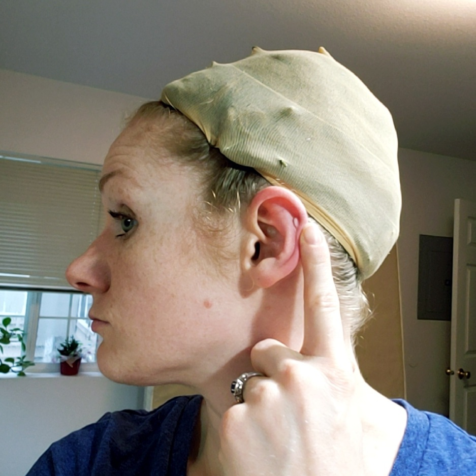 M Back of Ear to Back of Ear
