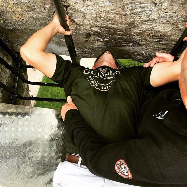 Getting the gift of the gab —————————————————————- #blarneystone #blarneycastle #castle #ireland #irish #giftofgab #kisstherock #travel #travelingmusician