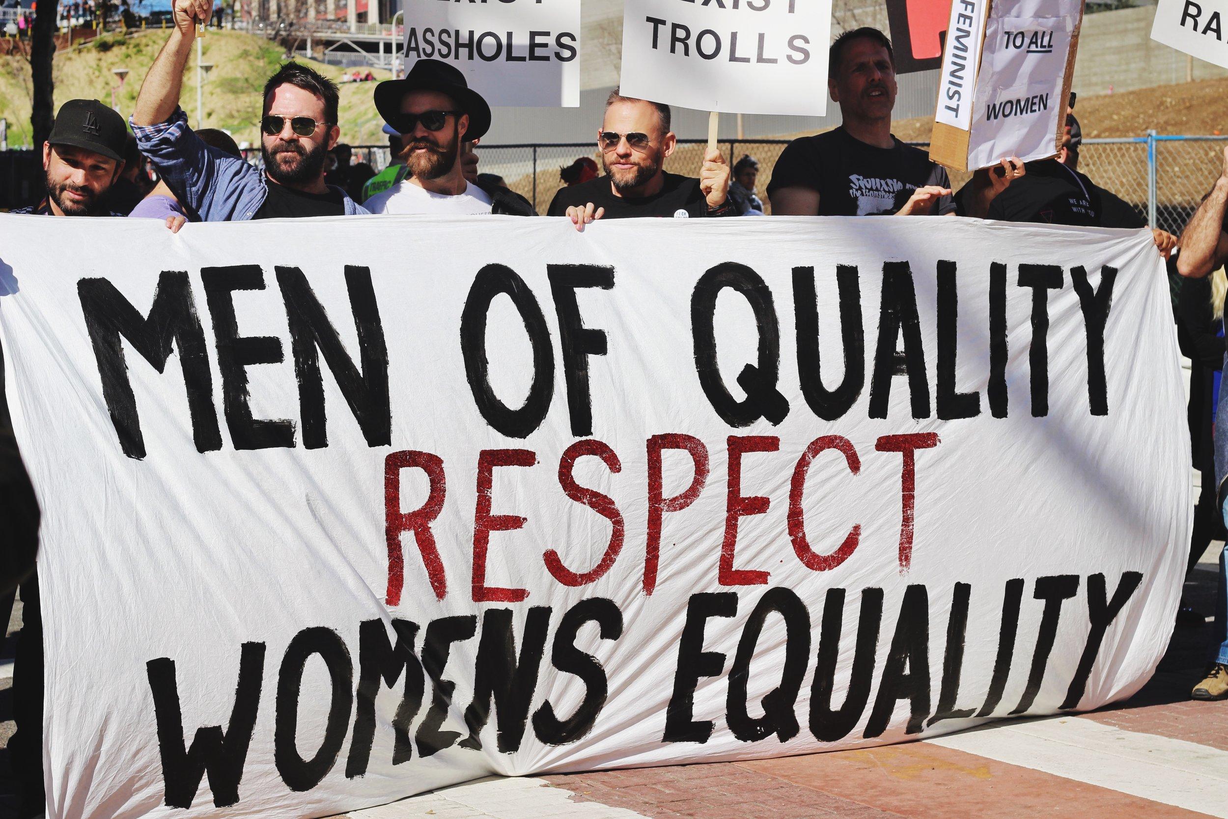 """privileged feminists should not repress men"" -"