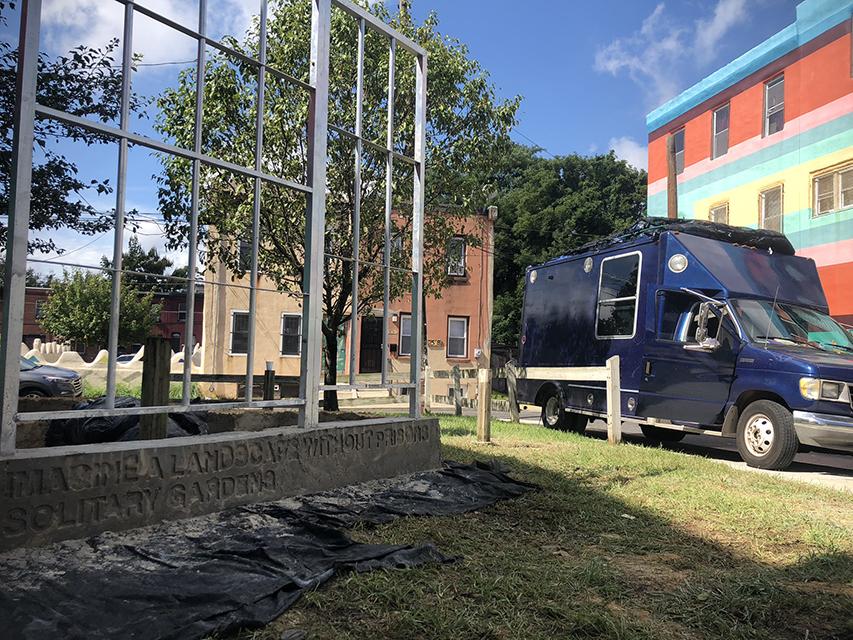 The Garrison parked outside of the Village in Philadelphia.