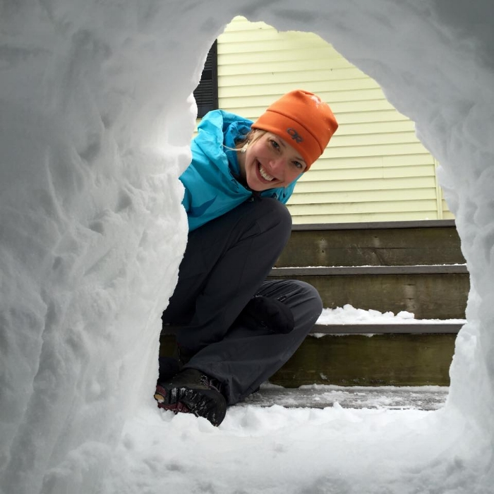My husband and I built an awesome snowfort in the backyard!!