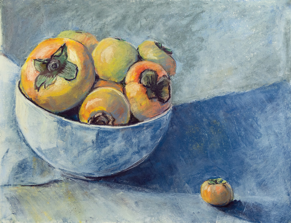 Persimmons   Pastel  24 x 18  2018