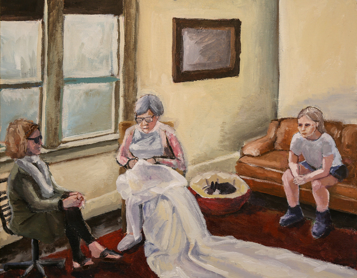 Three Generations and a Wedding Dress   Acrylic  2017