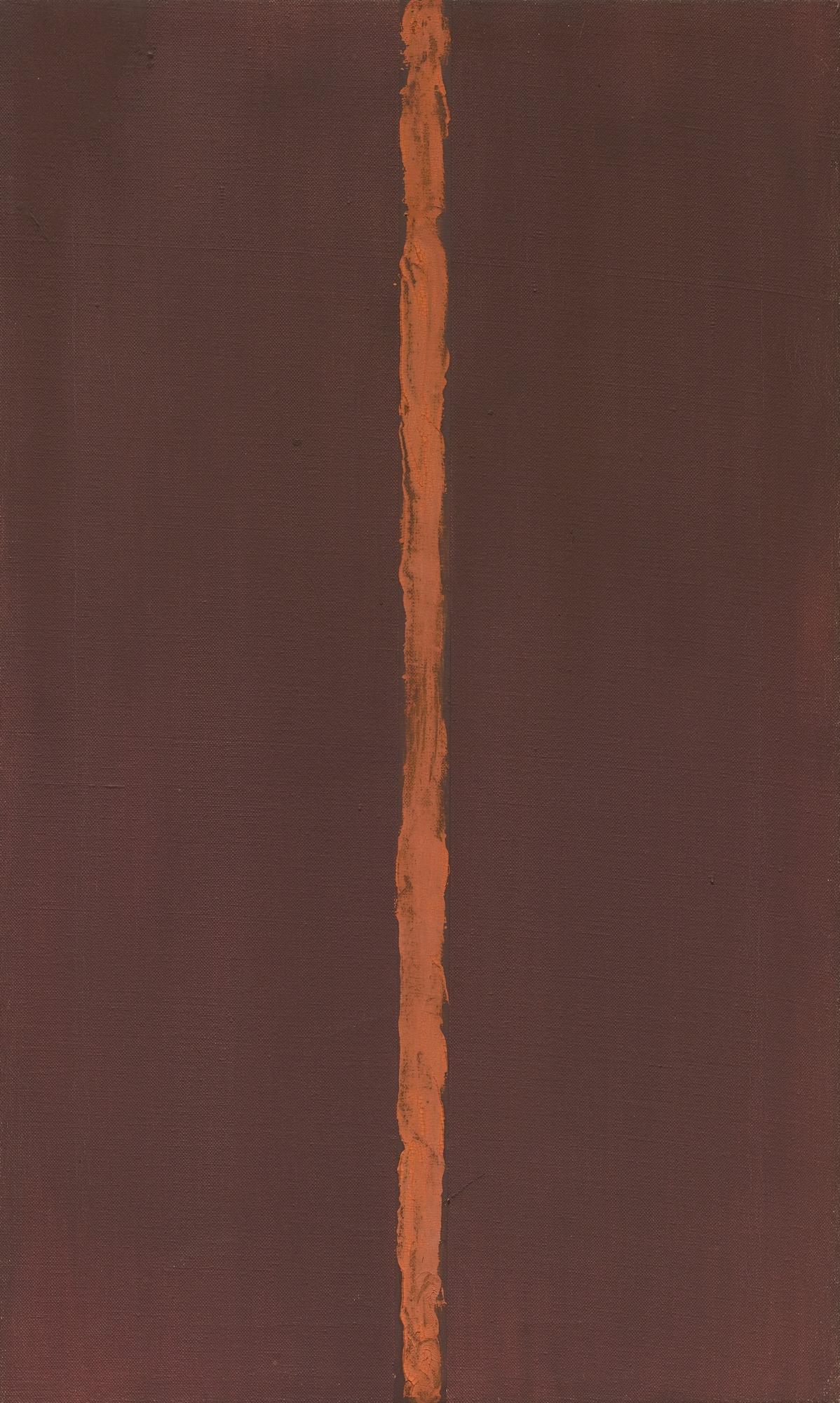 """Barnett Newman   Onement, I   1948  27 1/4 x 16 1/4""""  Museum of Modern Art"""