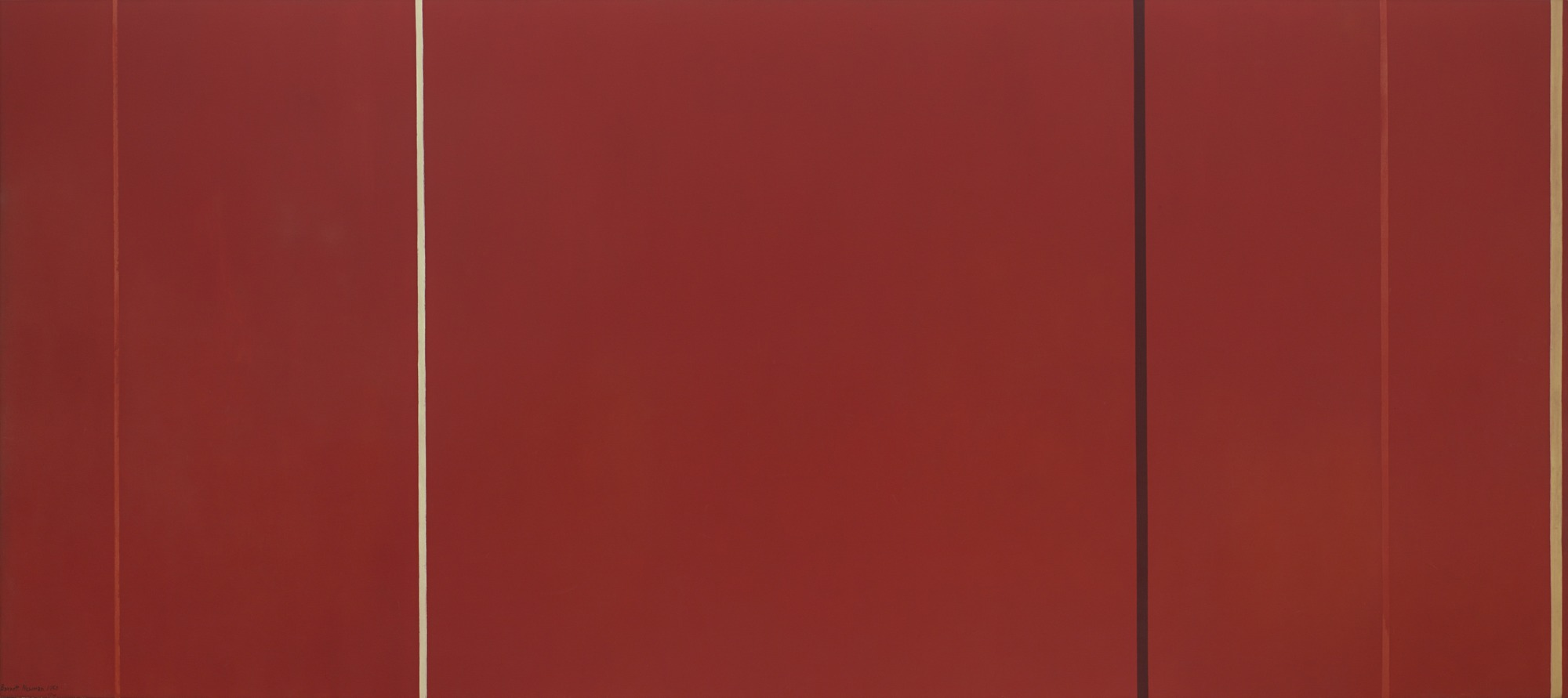 "Barnett Newman   Vir Heroicus Sublimis   1950-51  7' 11 3/8"" x 17' 9 1/4""  Museum of Modern Art"