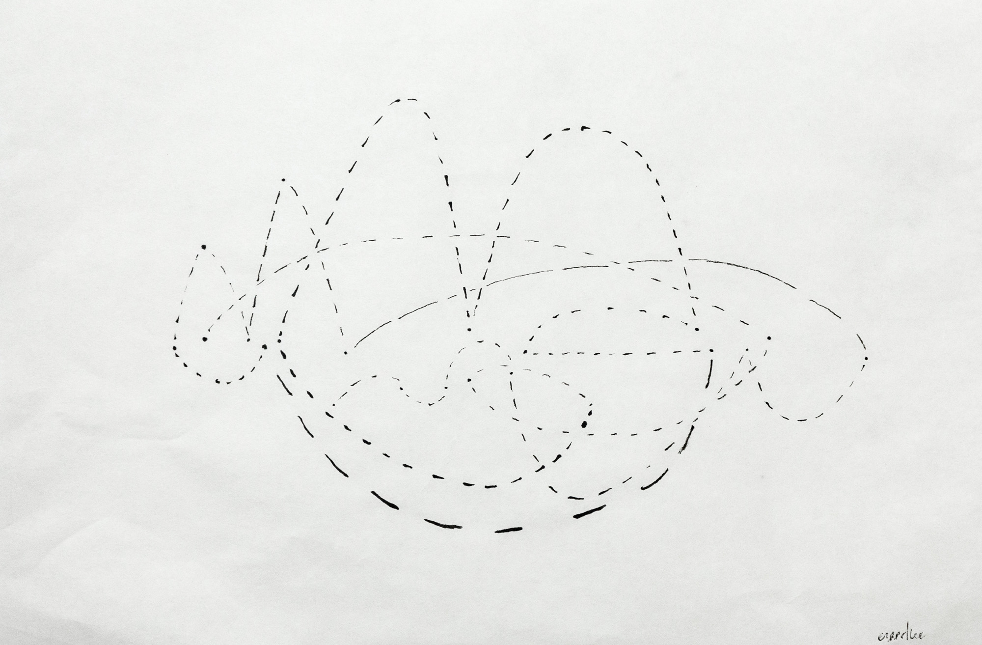 Life Planning, I   Ink on Kuzo  18 x 12  2019