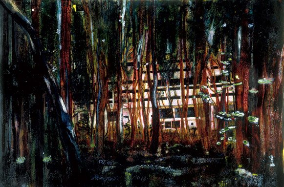 Peter Doig   Concrete Cabin  1991-2  Oil on canvas