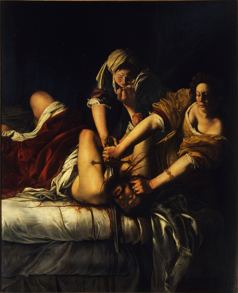 Judith and Holofernes , ca. 1620  Artemisia Gentileschi  Oil on canvas  78 3/10 × 64 in  Galleria degli Uffizi