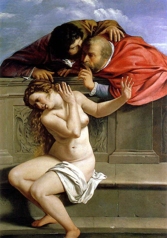 Susanna and the Elders , 1610  Artemisia Gentileschi  Oil on canvas