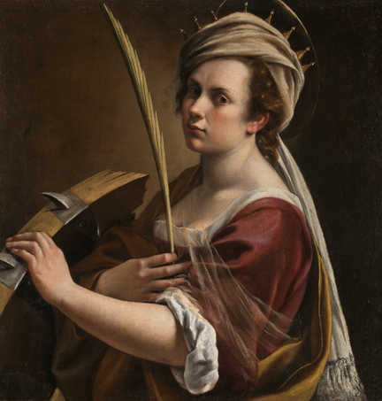 Self Portrait as Saint Catherine of Alexandria,  ca. 1615-17  Artemisia Gentileschi  Oil on canvas  The National Gallery, London