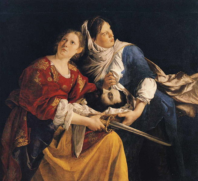 Judith and Her Maidservant with the Head of Holofernes   Orazio  Oil on canvas
