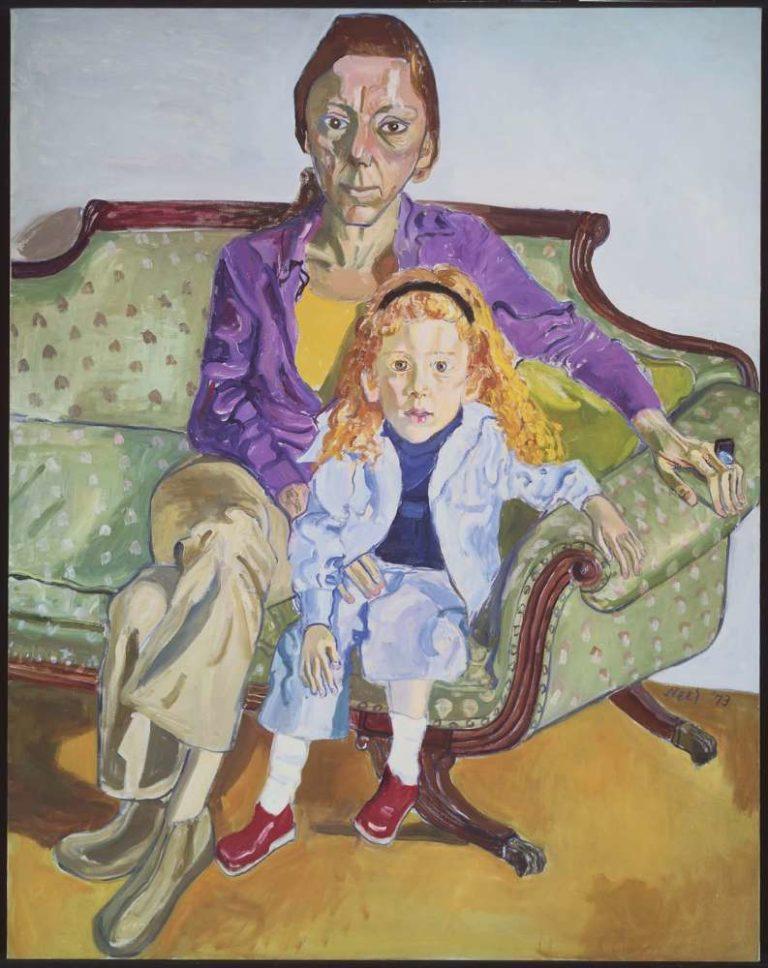Alice Neel,  Linda Nochlin and Daisy  (1973)  The Museum of Fine Arts Boston
