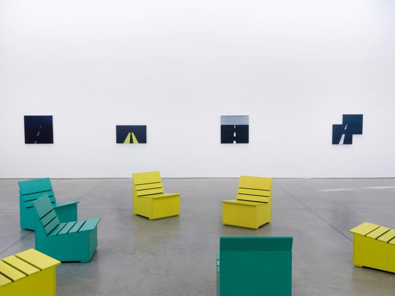 Mary Heilmann,  Geometrics: Waves, Roads, Etc. , Installation view: 303 Gallery, 2015