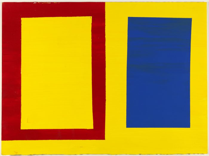Mary Heilmann,  Horizontal Yellow, Red and Blue , 1976.