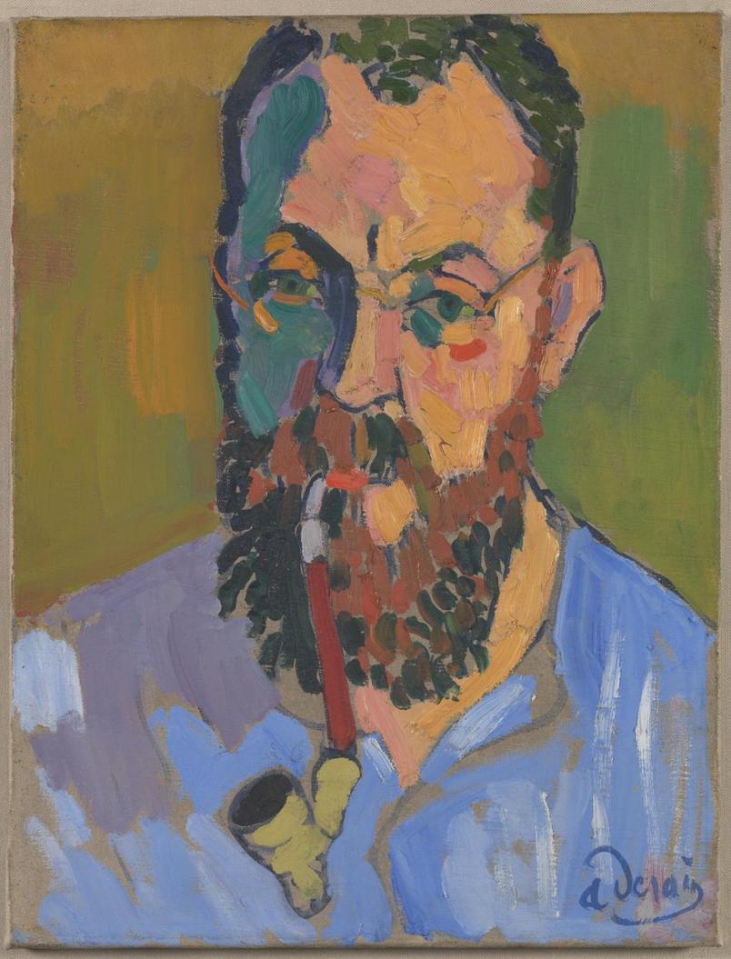 André Derain,  Henri Matisse , 1905, Oil on Canvas, 460 x 349 mm, Tate Modern