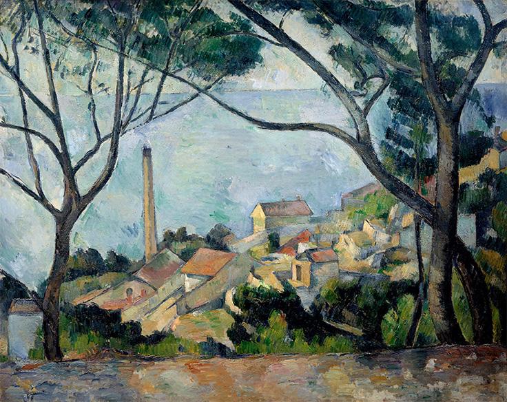 Paul  Cézanne,  La mer a l'Estaque,  1879