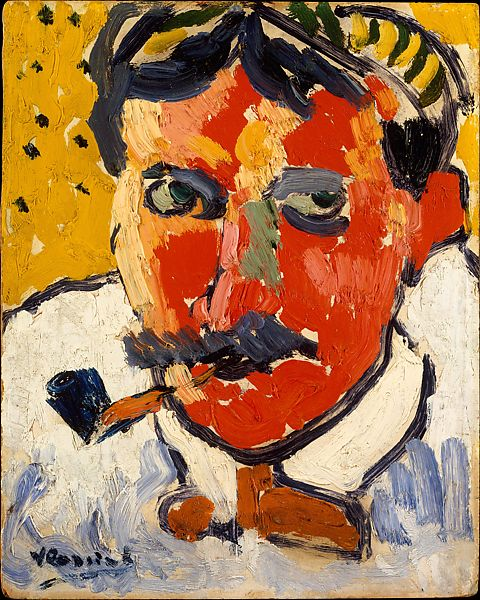 Maurice de Vlaminck,  André Derain,  1906, Oil on Cardboard, 27 x 22.2 cm, The Metropolitan Museum of Art  © 2019 Artists Rights Society (ARS), New York