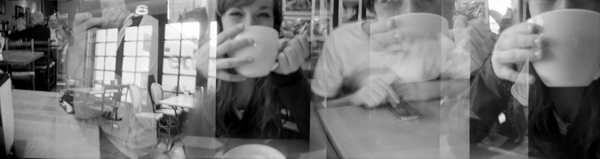Time Lapse: The Teenager Drinks Coffee , 2011, 9 x 34 in