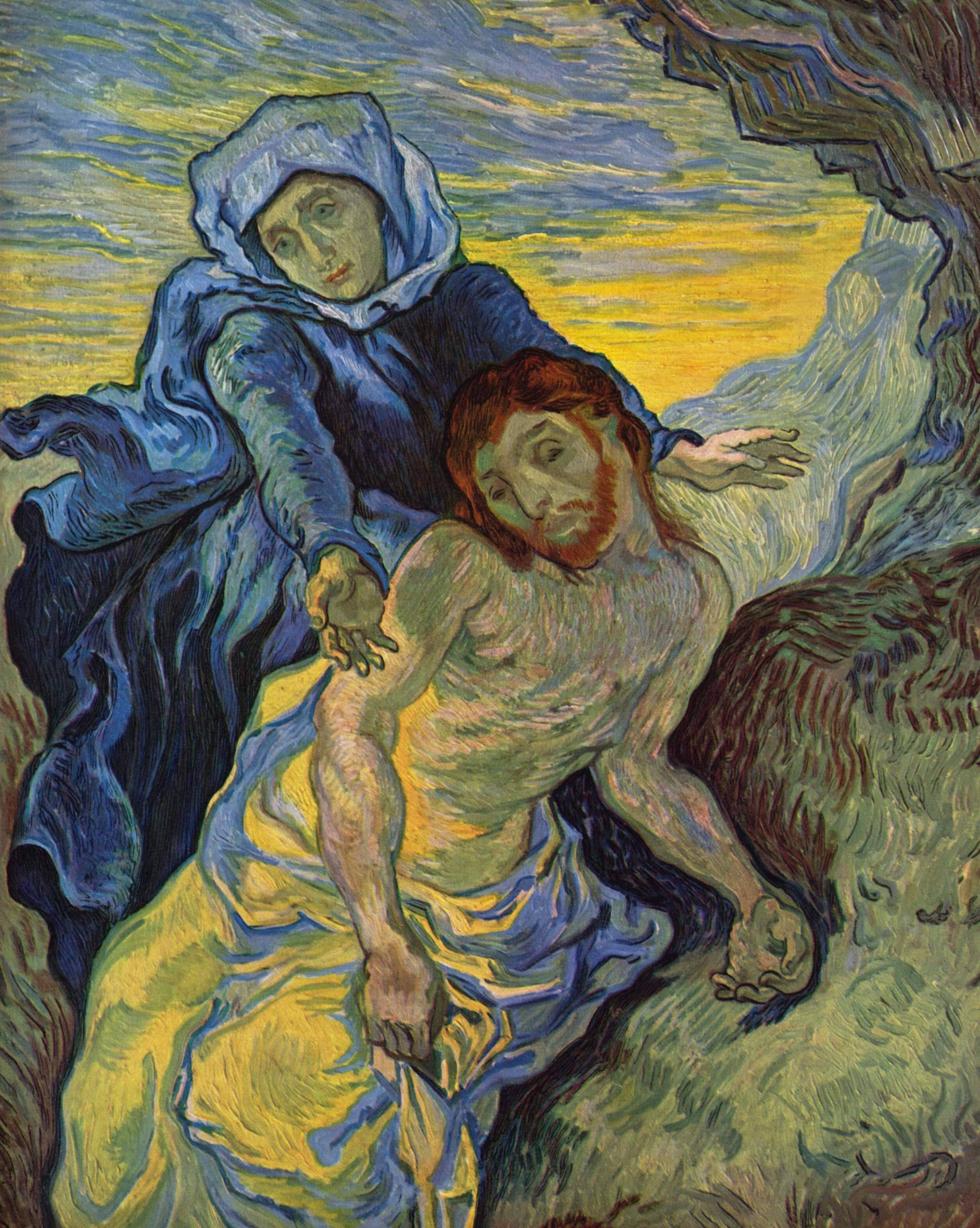 Vincent van Gogh,  The Pietà (after Delacroix),  1889, Van Gogh Museum, Amsterdam