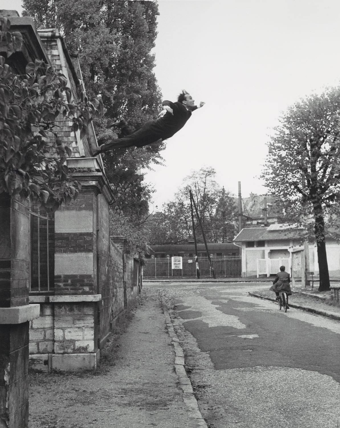 Yves Klein with the collaboration of Harry Shunk and John Kender,  Leap into the Void , 1961