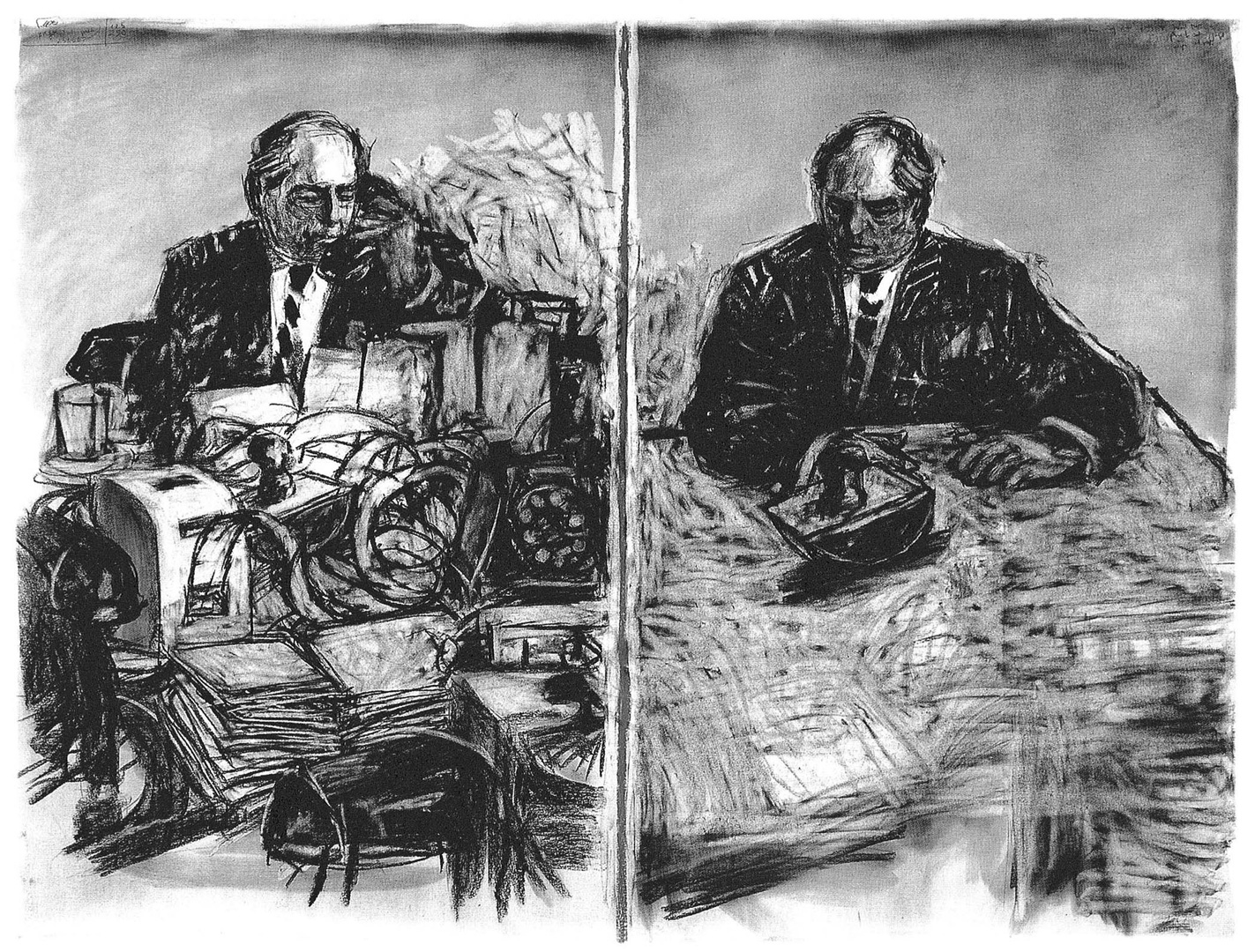 Still from William Kentridge's  Stereoscope  (1999)