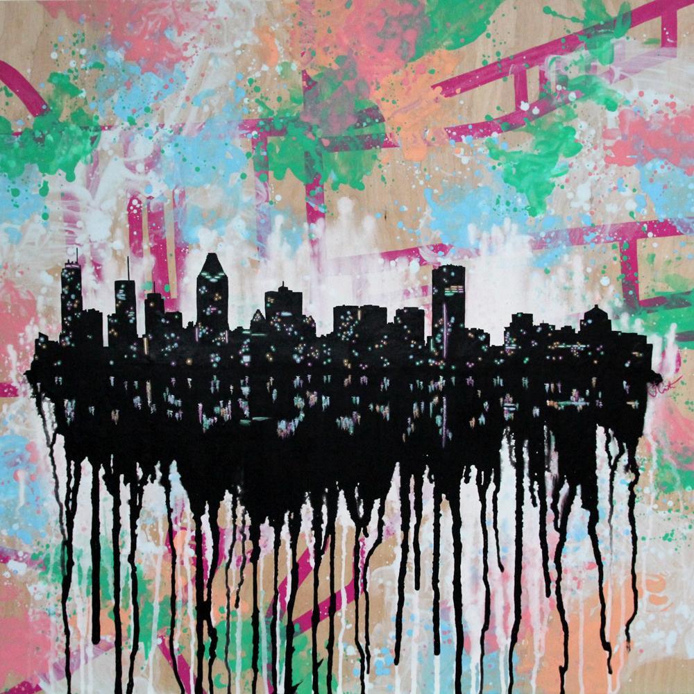 "CITY OF MARY | 30"" X 30"" | acrylic on wood | 2015"