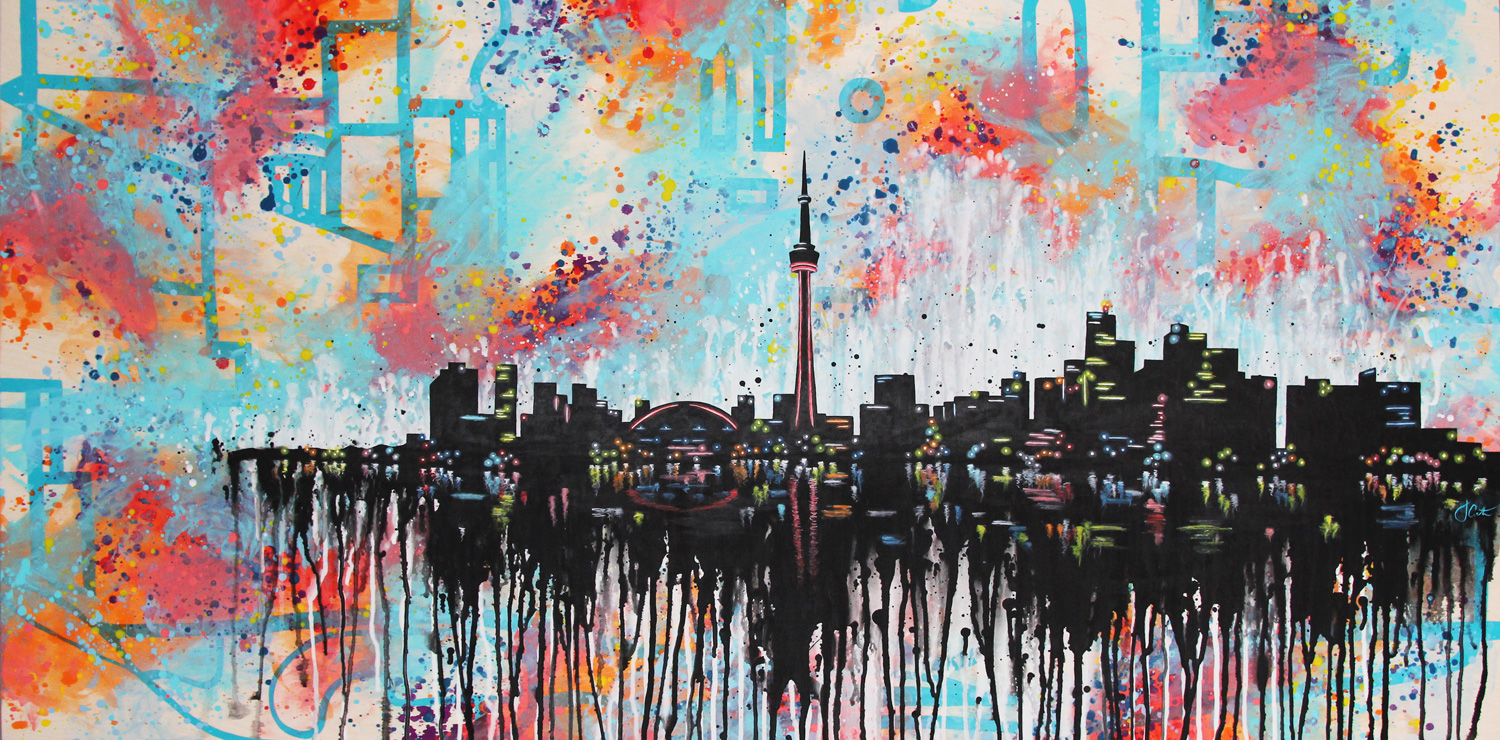"HEART OF THE CITY: BOLD REMIX | 60"" x 30"" 