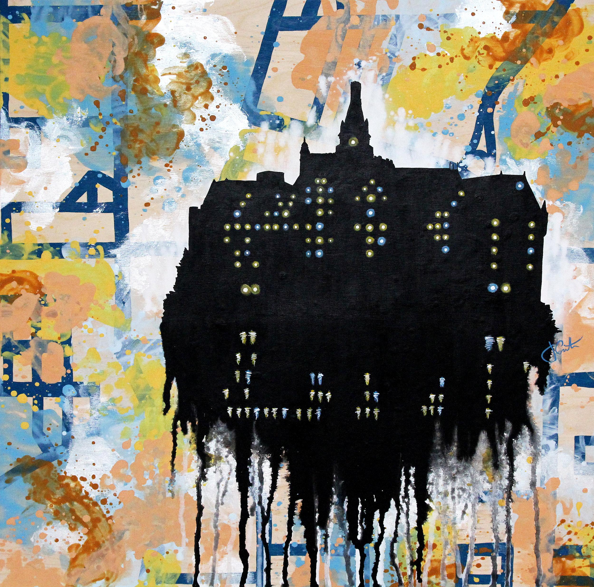 "SWEET PURPLE BERRY | 24"" x 24"" | acrylic on wood | 2015"