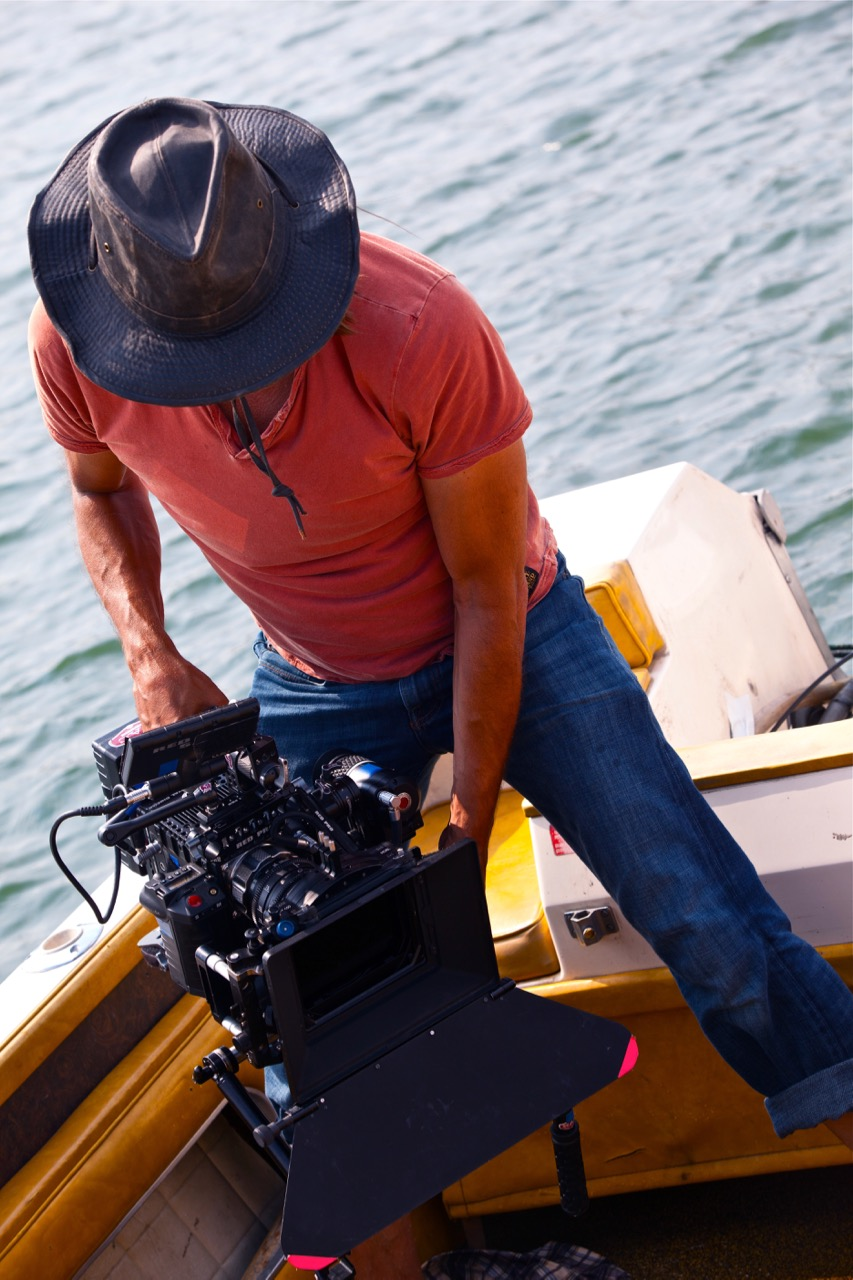 Jimmy on location filming the feature film The Surface.
