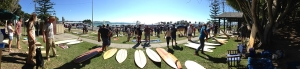 A panoramic view of Wooden Board Day Gold Coast 2015