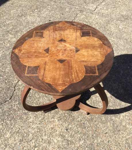 Art Deco table in need of some professional restoration