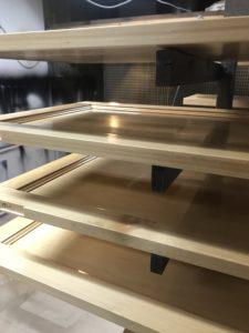 Custom polishing of timber shelves
