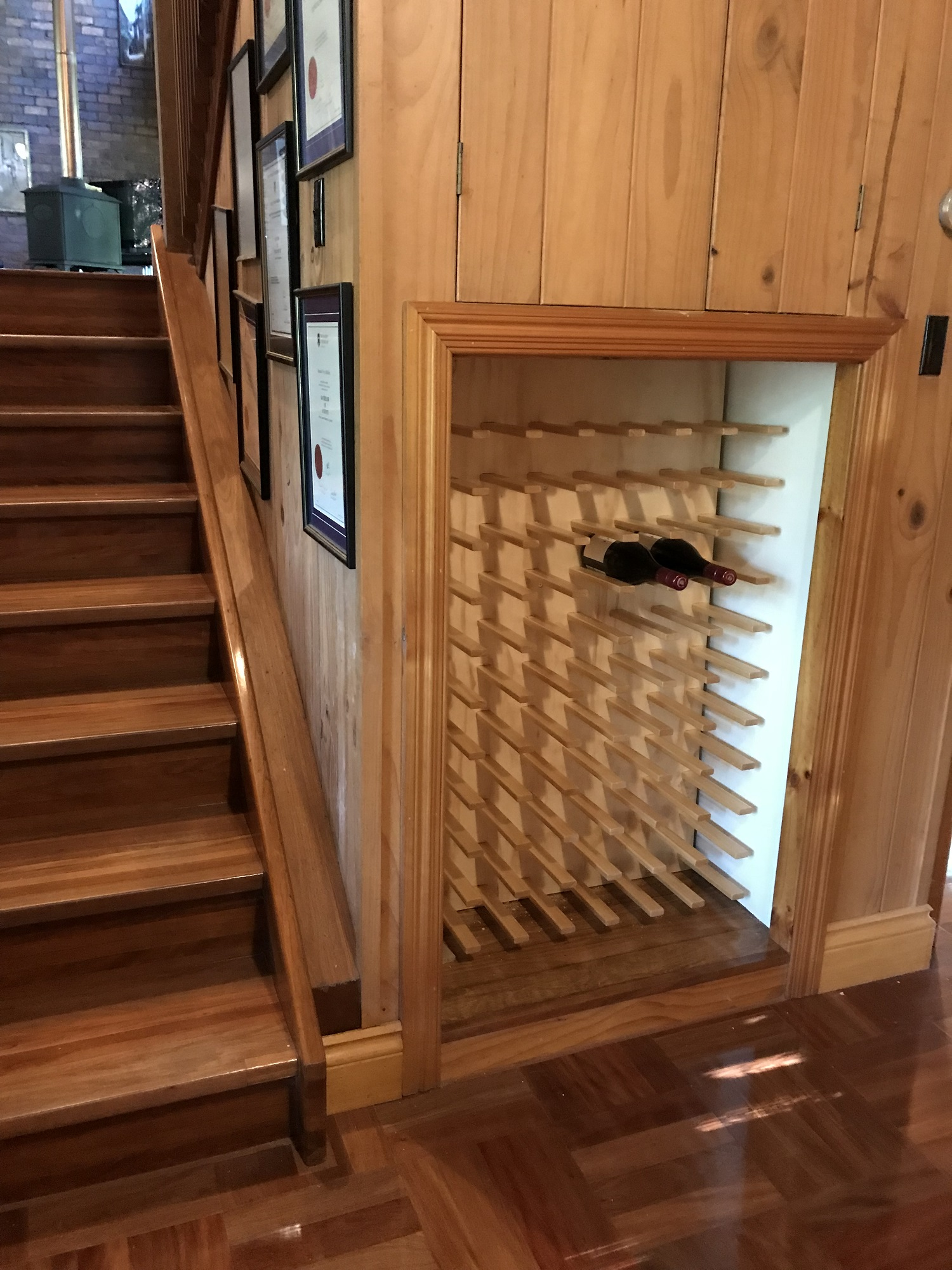 What a wonderful use for under the stairs