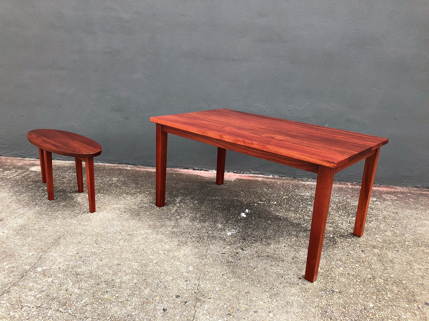 The wonderful deep patina of Jarrah makes a striking choice for apartment living/