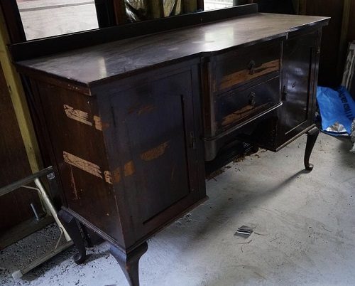 A forgotten dressing table , some would say has seen better days …