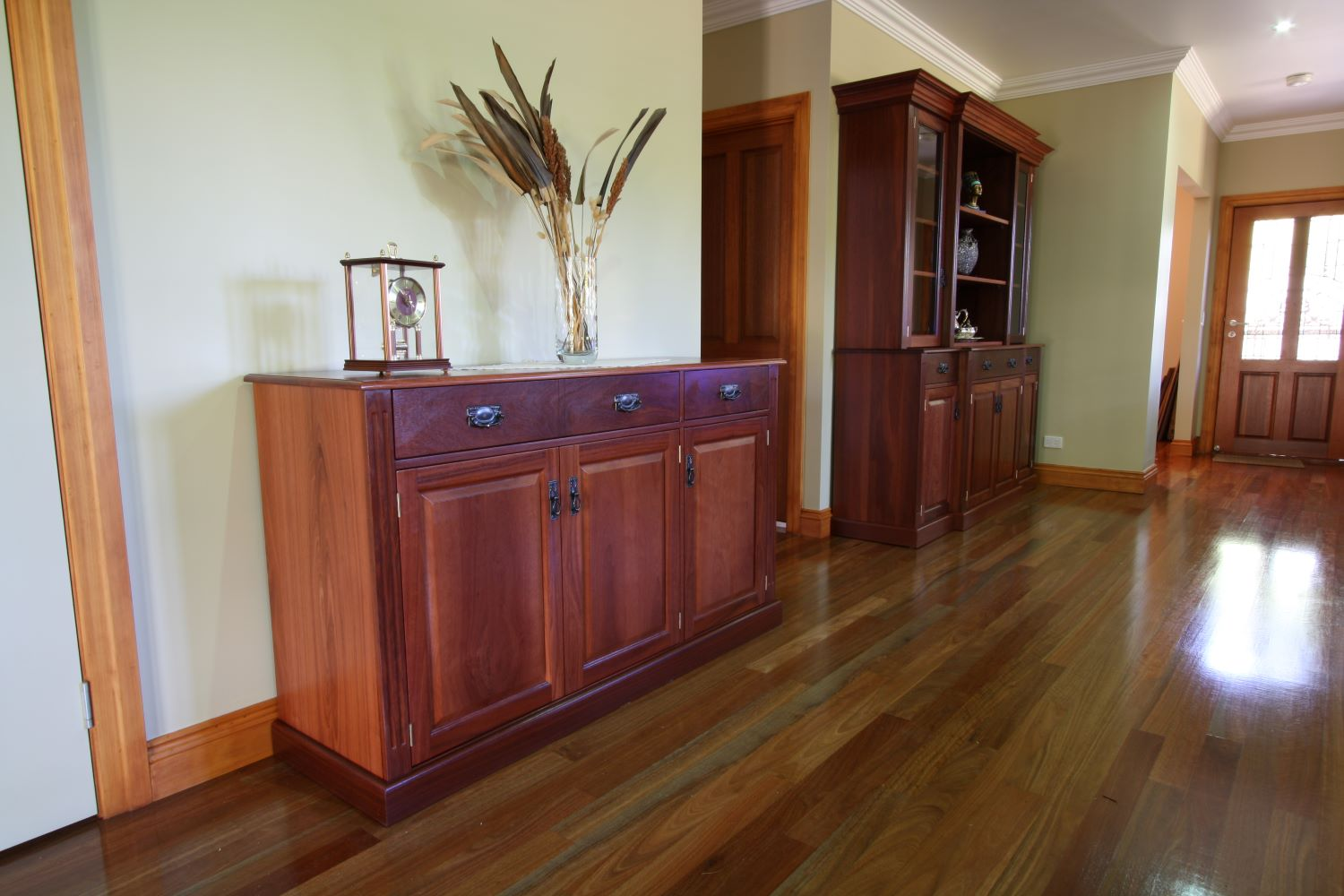 Classic appeal, sideboard custom made to blend beautifully with existing cabinetry